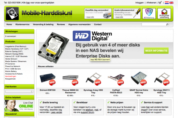 Mobile-Harddisk.nl blog van start