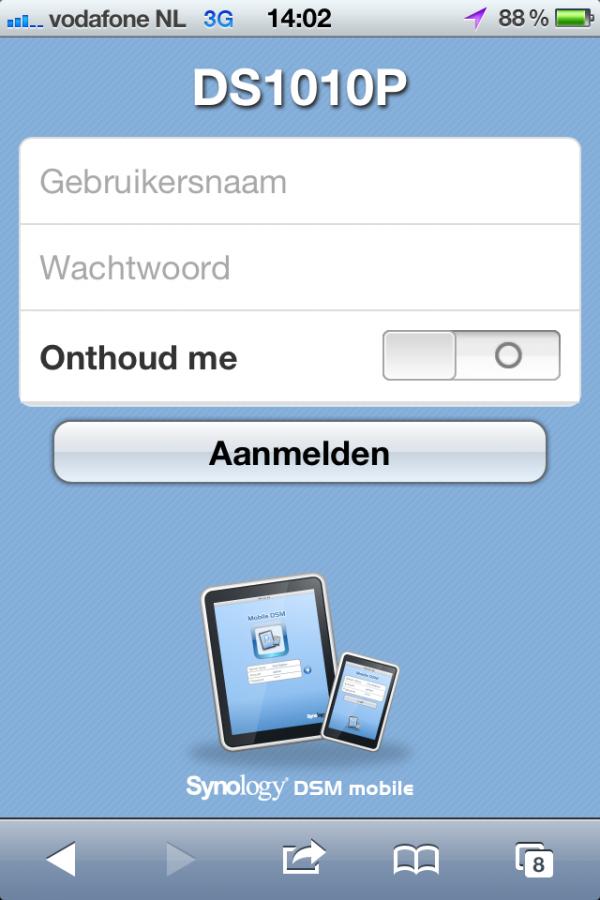 Kleine rondleiding DSM Mobile [DSM 3.2 Beta]