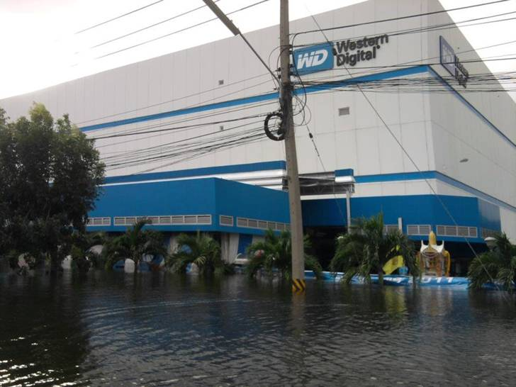 Foto's Western Digital fabriek Thailand