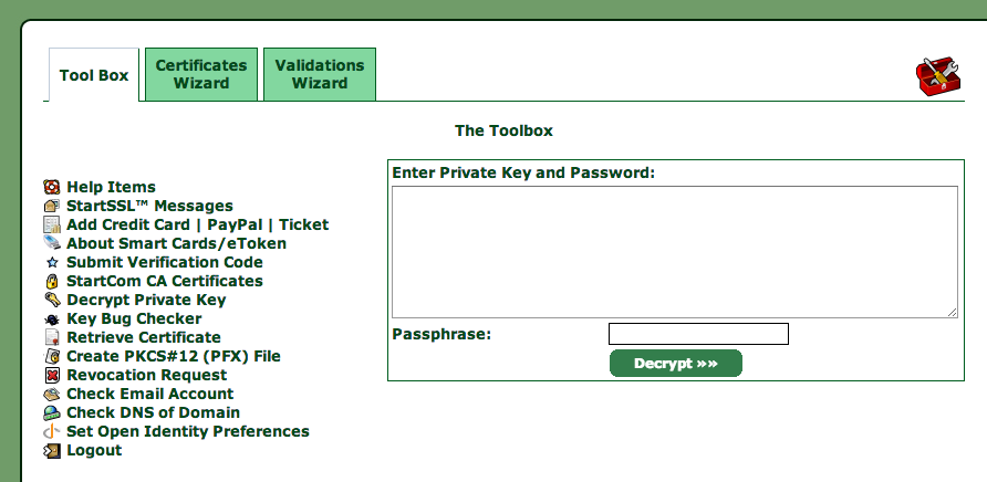 Decrypt key