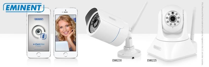 Uitbreiding e-CamView IP Camera line-up met 2 HD camera's