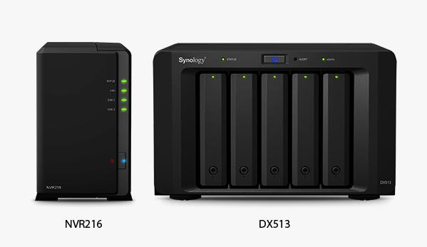 Synology NVR216 + Synology DX513