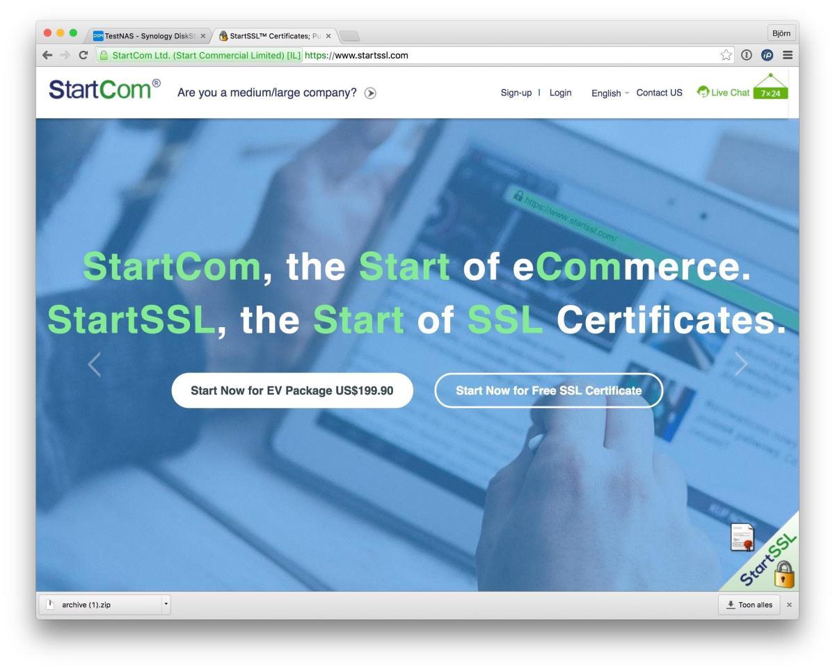 gratis ssl certificaat aanvragen