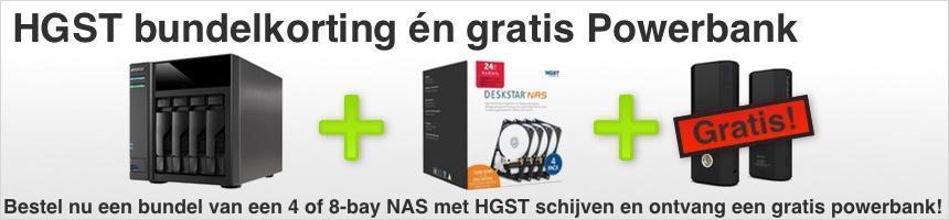 4Bay NAS + HGST Deskstar NAS drives met extreem hoge bundelkorting!