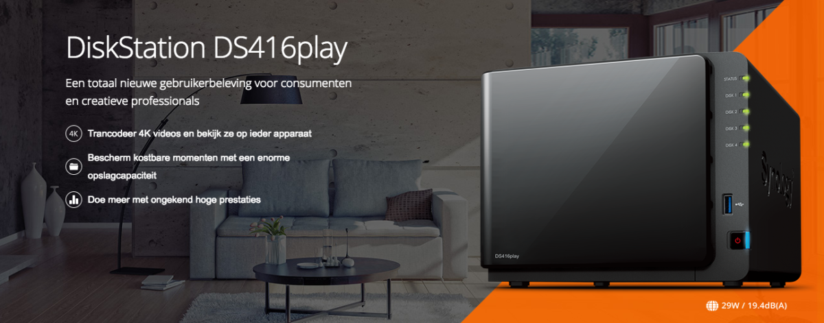 Nieuw: Synology DS416play, een veelzijdige 4-bay NAS!
