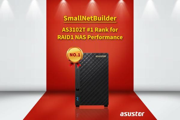 ASUSTOR AS3102T verkozen tot 'Performance Champion' door SmallNetBuilder!