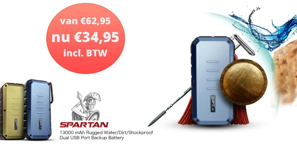 iWalk Spartan 13000mAh powerbank nu €34,95!