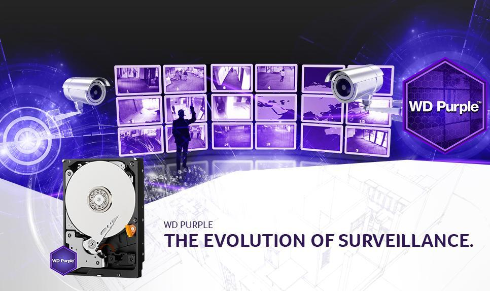 Western Digital Purple is de ideale harde schijf voor Surveillance doeleinden!