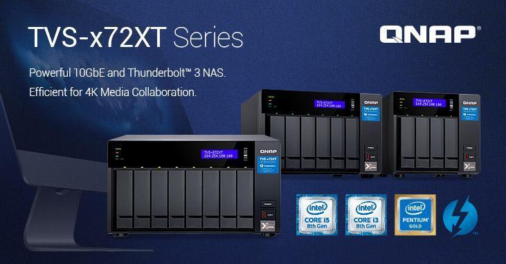 QNAP introduceert de nieuwe 10GbE en Thunderbolt 3 TVS-x72XT NAS-serie