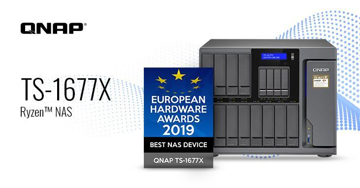 QNAP TS-1677X verkozen tot beste NAS-apparaat tijdens European Hardware Awards 2019