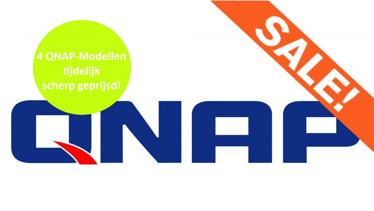 Nu tijdelijk 4 modellen van QNAP scherp geprijsd!