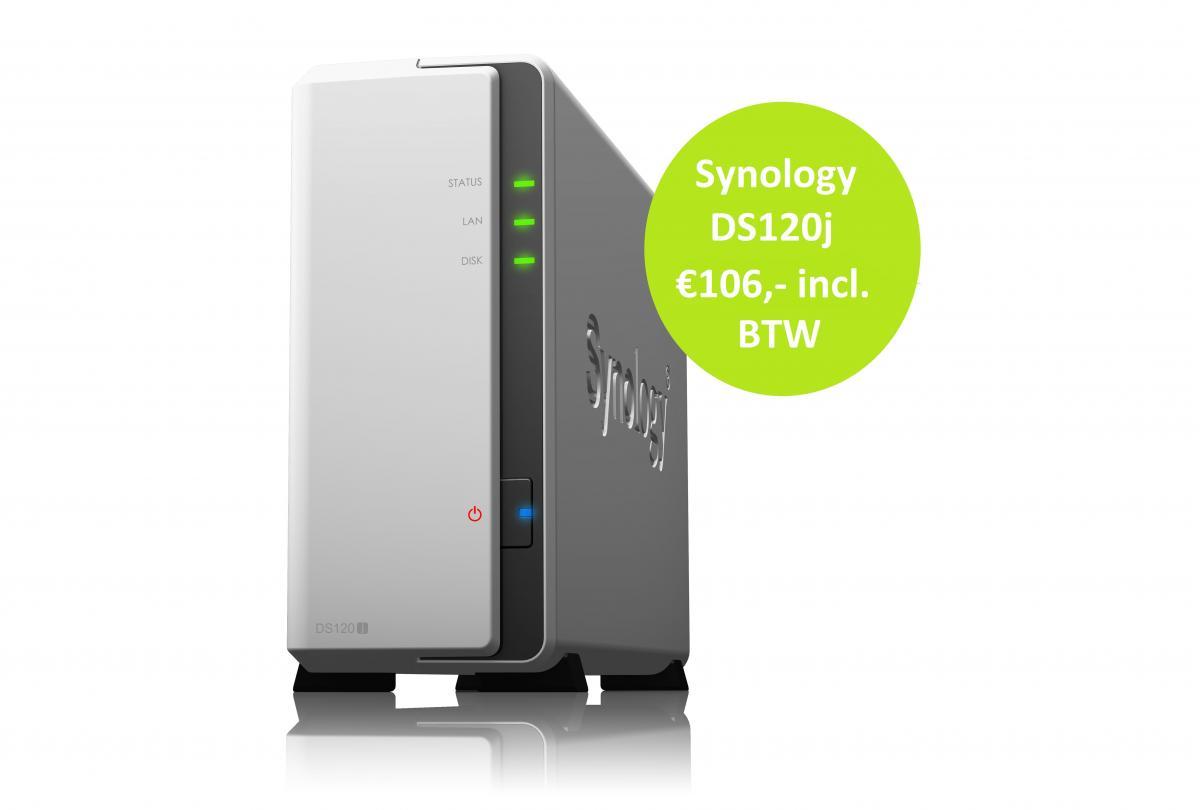De nieuwe Synology DS120j, opvolger van de succesvolle DS119j